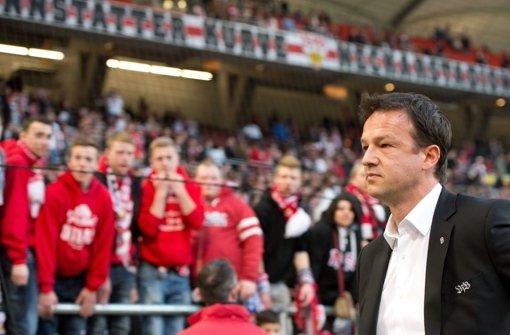 Massive Kritik auch von den Fans: Ex-VfB-Sportvorstand Fredi Bobic Foto: dpa