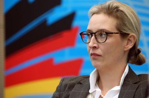Alice Weidel ist durch die dubiosen Parteispenden in ihrem Wahlkreis in Bedrängnis geraten. Foto: dpa