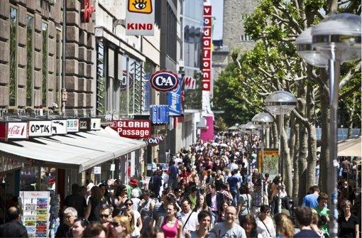 Einzelhandel zieht Kunden an