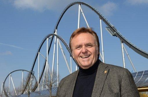 Der Geschäftsführer des Europa-Parks, Roland Mack freut sich in diesem Jahr über einen Besucherrekord. Foto: dpa
