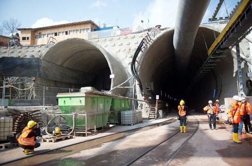 Der Eingang des Fildertunnels für das Bahnprojekt Stuttgart-Ulm Foto: dpa
