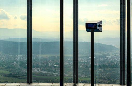 Bis an die Schweizer Alpen kann die Sicht bei idealen Bedingungen reichen. Foto: thyssenkrupp Steel Europe