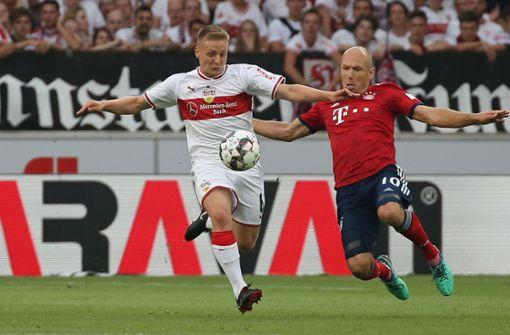 Gleich zum ersten Heimspiel empfing der VfB den Rekordmeister aus München. Foto: Pressefoto Baumann