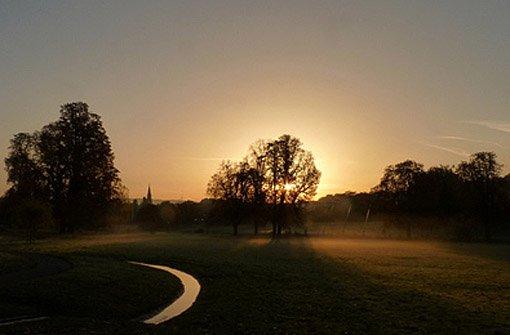 Der Morgennebel über Stuttgart