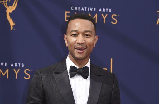 """John Legend erhielt einen Emmy-Auszeichnung als Co-Produzent in der Show """"Jesus Christ Superstar Live in Concert"""". Damit ist er einer der weniger Künstler, die die vier größten Preise (Emmy, Grammy, Tony und Oscar) des US-Showbusiness gewonnen haben. Foto: Invision"""