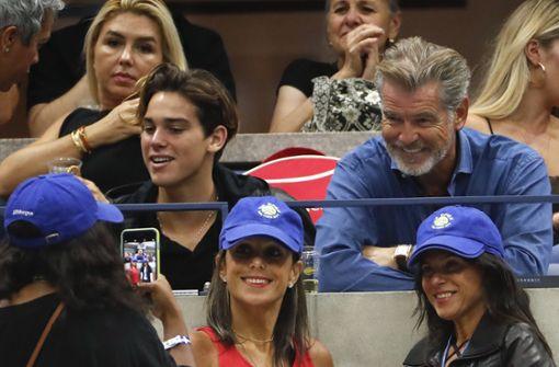 Auch Schauspieler Pierce Brosnan ließ sich den Finaltag nicht entgehen. Foto: AP