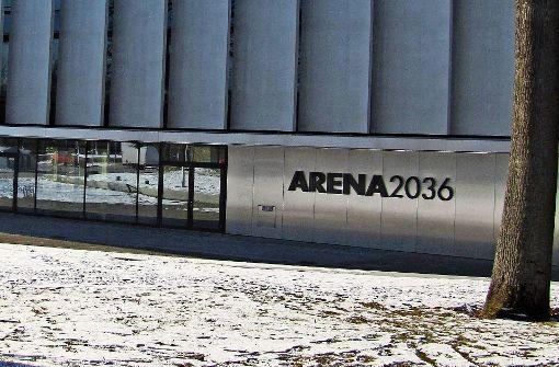 Die Arena 2036 ist fertig gebaut. Das Gebäude  steht auf dem ehemaligen Parkplatz am Pfaffenwaldring 19. Foto: Jacqueline Fritsch