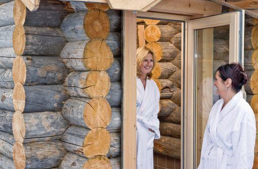 Bei kaltem Wetter in der Kelo-Sauna aufwärmen  Foto: Kur und Bäder GmbH Bad Krozingen