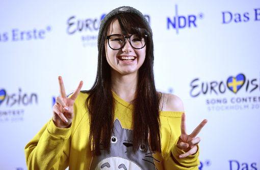Jamie-Lee im Februar 2016 bei einer Pressekonferenz zum deutschen ESC-Vorentscheid. Foto: dpa