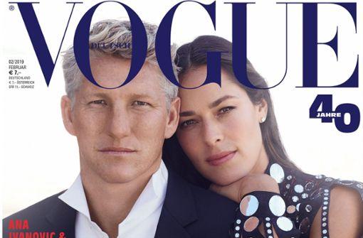 Ana Ivanovic und Bastian Schweinsteiger als Models