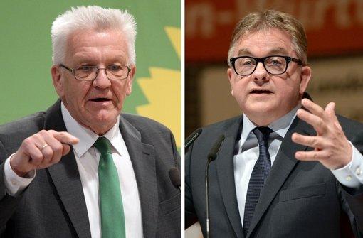 Der baden-württembergische Ministerpräsident Winfried Kretschmann (links) und CDU-Spitzenkandidat Guido Wolf. Foto: dpa