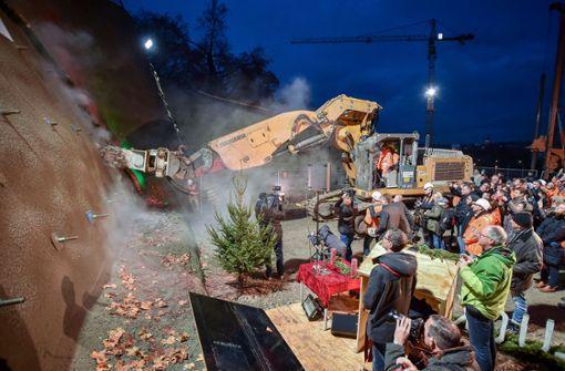Anstich des Rosenstein-Tunnels am Neckarufer in Bad Cannstatt Foto: Ferdinando Iannone©