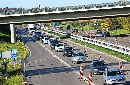 Geduldsprobe für Autofahrer Richtung Tübingen