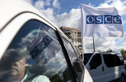 OSZE-Beobachter bei Minenexplosion getötet