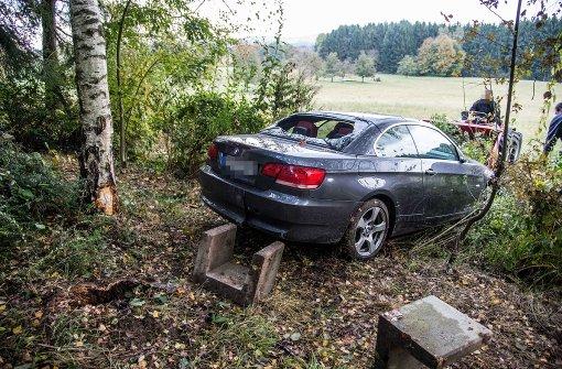 BMW fliegt durch die Luft
