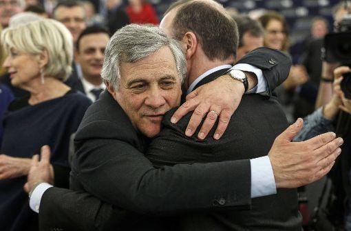 Neuer Präsident des Europäischen Parlaments: Antonio Tajani aus Italien. Foto: AP