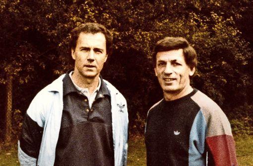 Kaiser trifft Kaiser: Franz Beckenbauer und Franz Hübner (re.) Foto: fh