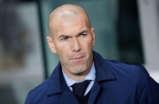 Zinédine Zidane ist laut Medien nicht mehr Trainer bei Real Madrid. Foto: AP