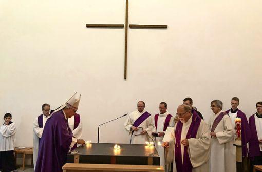 Neues Haus für den Patron der Kirche
