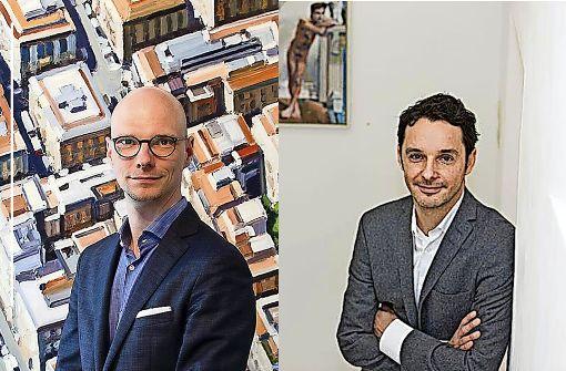 Wollen mit der Initiative Stuttgarter Galerien in die Offensive: Kay Kromeier (links) und Thomas Fuchs Foto: Kromeier/Silicya Roth
