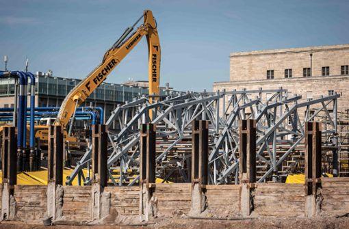 Während der Bauarbeiten für den neuen Tiefbahn . . .  Foto: Lichtgut/Max Kovalenko