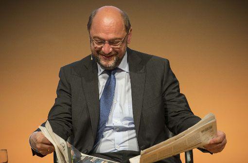 Moskauer Firma wirbt mit Martin Schulz