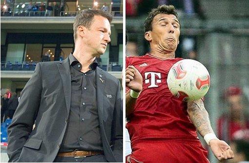 Was den VfB-Manager Bobic und den Bayern-Stürmer Mandzukic verbindet. Foto: dpa/Baumann