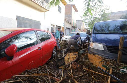 Heftige Unwetter haben auf Mallorca schwere Schäden verursacht. Foto: Europa Press