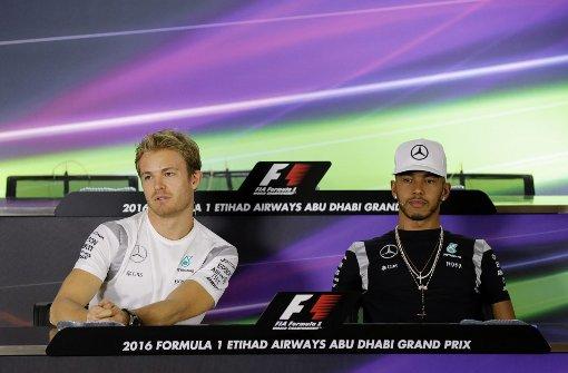 Rosberg in der Qualifikation hinter Hamilton