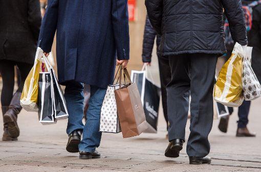 Die Bürger ist in Shoppinglaune – das treibt die duetsche Wirtschaft an. Foto: dpa