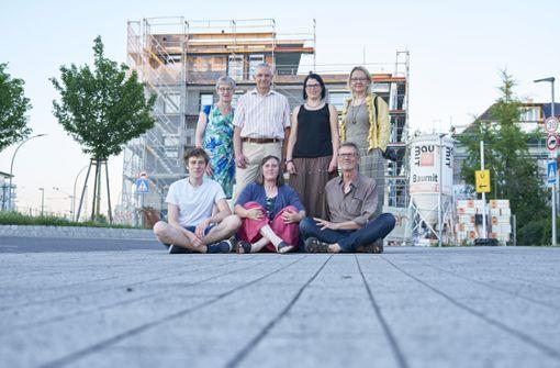 Die Fotogruppe vor der Baustelle. Foto: Peter D. Hartung