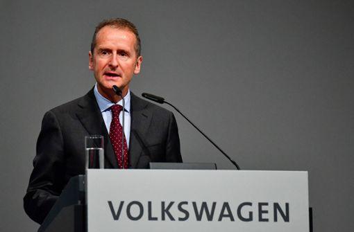 """Konzernchef Herbert Diess: """"VW muss anständiger werden"""""""
