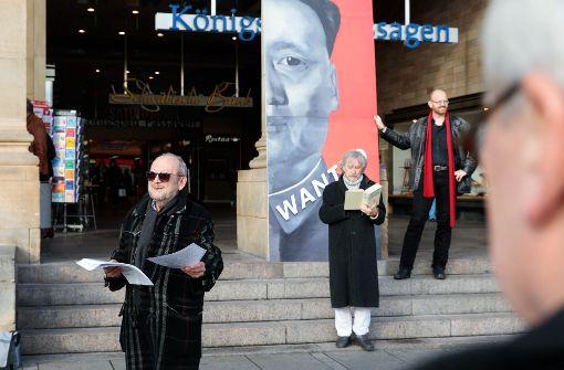 Voller Protest mit halbem Mao