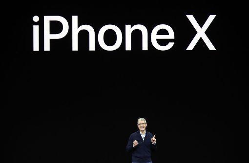 Apple stellte am Dienstag das neue Modell iPhone X vor. Foto: AP