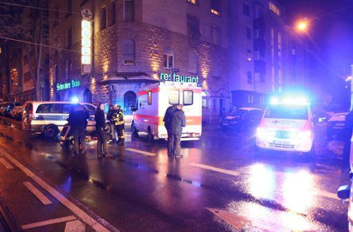 An der Bebelstraße in Stuttgart-West ist es zu einem schweren Unfall gekommen. Foto: 7aktuell.de/Sven Adomat