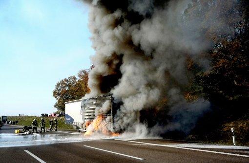 Autobahn A 8 bis Sonntag gesperrt