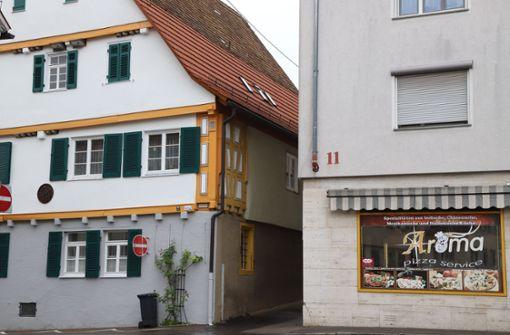 Die beiden Häuser Waiblinger Straße 2und Vordere Straße 11. Foto: Patricia Sigerist