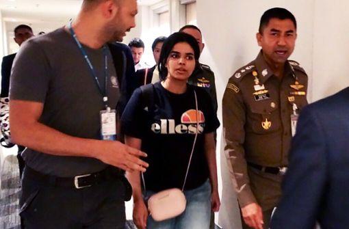 Die Flucht der jungen Saudi-Araberin Rahaf Mohammed el-Kunun vor der eigenen Familie scheint ein glückliches Ende zu finden Foto: Thai Immigration Bureau