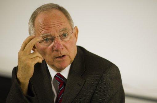Bundesfinanzminister Wolfgang Schäuble Foto: dapd