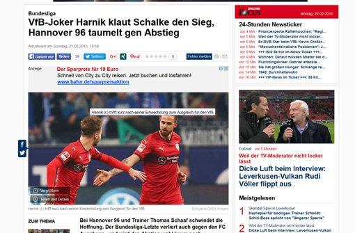 Für den Focus ist Harnik der VfB-Joker.  Foto: Screenshot