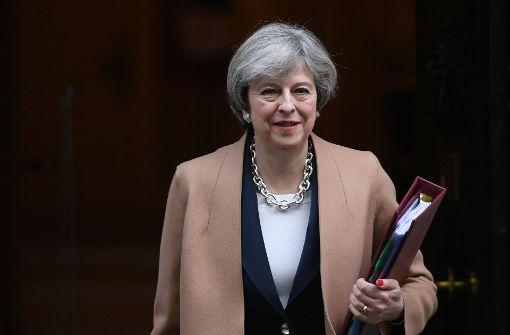 Britische Premierministerin mit Schuhtick