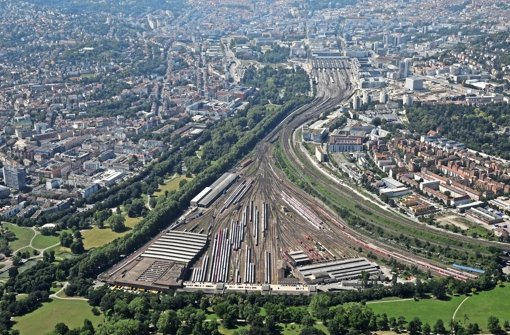 Die Gleisflächen von Stuttgart 21 Foto: Manfred Storck