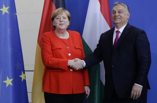 """Merkel betont bei Orbans Besuch """"die Seele Europas"""""""