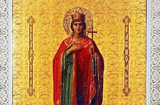 Ausschnitt aus dem Bildnis der heiligen Olga, das von Dieben erbeutet wurde. Foto: Landesmuseum Württemberg.jpg
