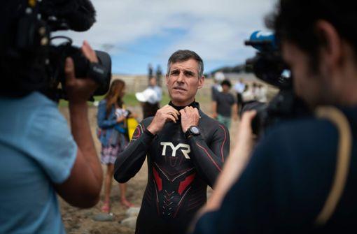 Ben Lecomte will von Japan aus 9000 Kilometer weit bis nach Amerika schwimmen. Foto: AFP