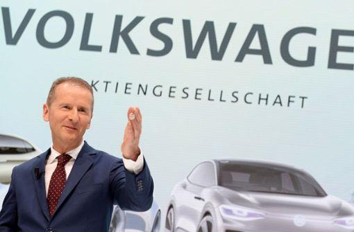 VW-Chef Diess warnt vor teuren E-Autos