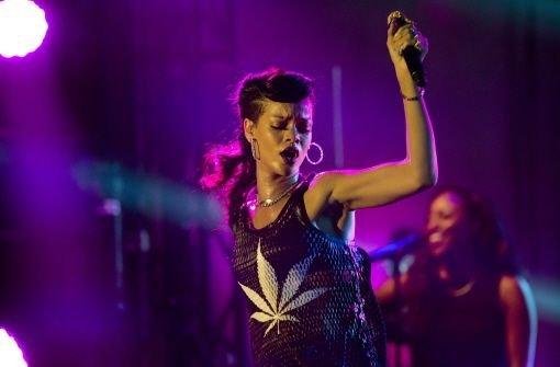 Rihanna stand im Berliner ewerk auf der Bühne. Foto: AP