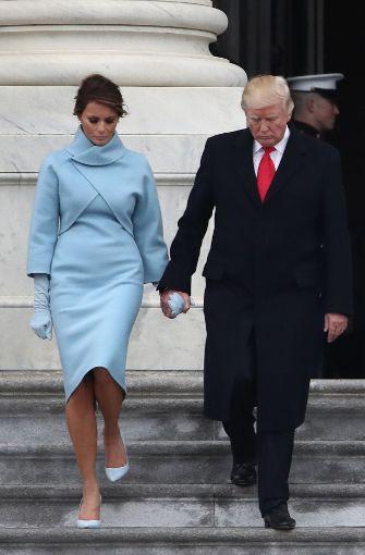 Mode im Stil von Jacqueline Kennedy: Melania Trump setzt auf ...