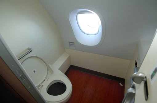 Nicht die Toilette ist im Flugzeug der am stärksten mit Keimen belastete Ort: Die meisten Erreger tummeln sich auf dem Klapptisch am Sitzplatz. Bei einer Stichprobe des amerikanischen Fernsehsenders NBC wurden dort sogar krankmachende Darmbakterien nachgewiesen.  Foto: dpa