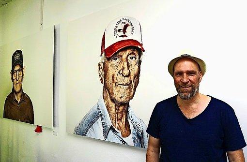 Darius Ramazani bei  seiner Veteranenschau Foto: DR